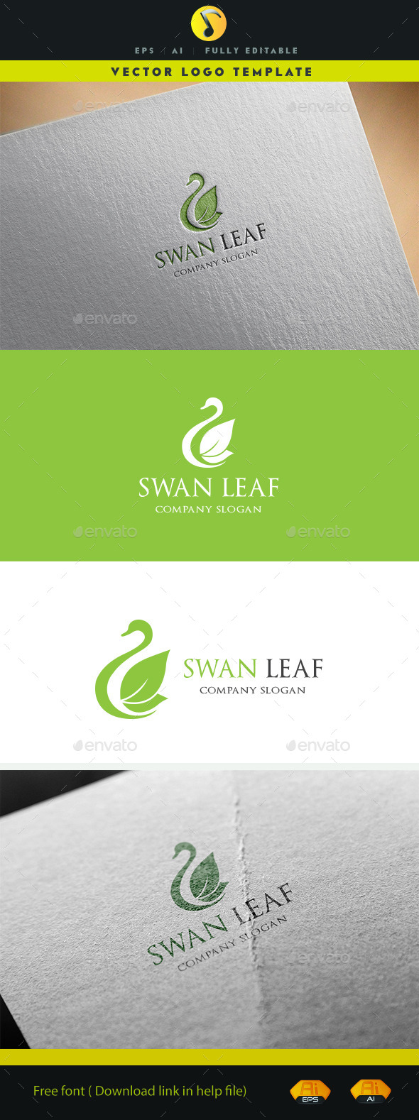GraphicRiver Swan Leaf 11878098