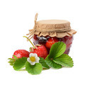 strawberries and jam isolated on white background - PhotoDune Item for Sale