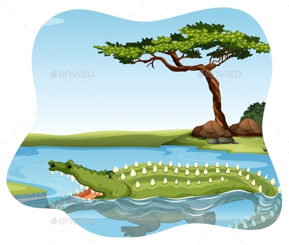 GraphicRiver Crocodile 11878260