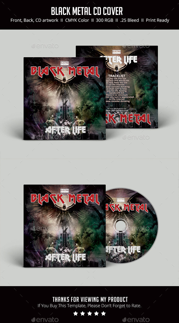 GraphicRiver Black Metal CD Cover 11873123
