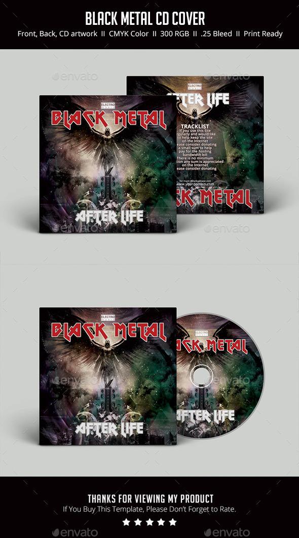 GraphicRiver Black Metal CD Cover 11873123