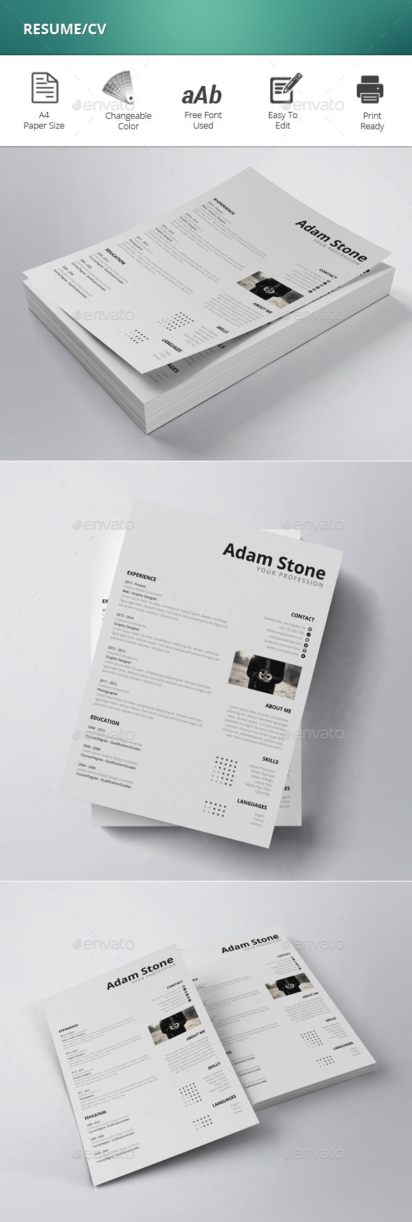 GraphicRiver Resume CV 11878507