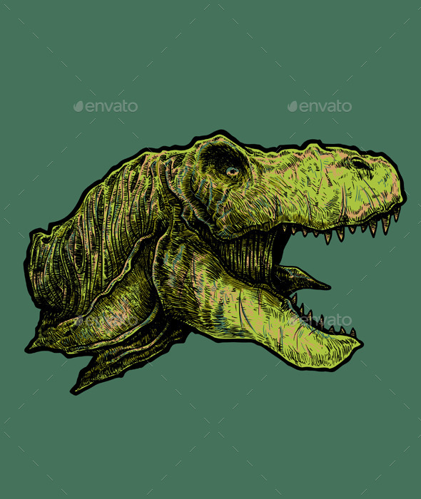 GraphicRiver T-rex Head Vector 11878522