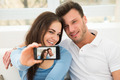 Happy Young Couple Taking A Selfie - PhotoDune Item for Sale