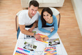Young Couple Choosing Color From Swatch - PhotoDune Item for Sale