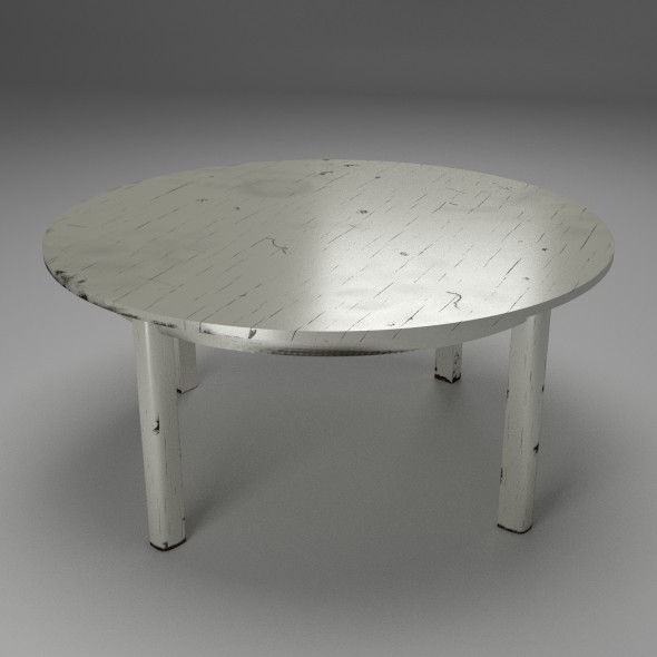 Shabby Chic Table - 3DOcean Item for Sale