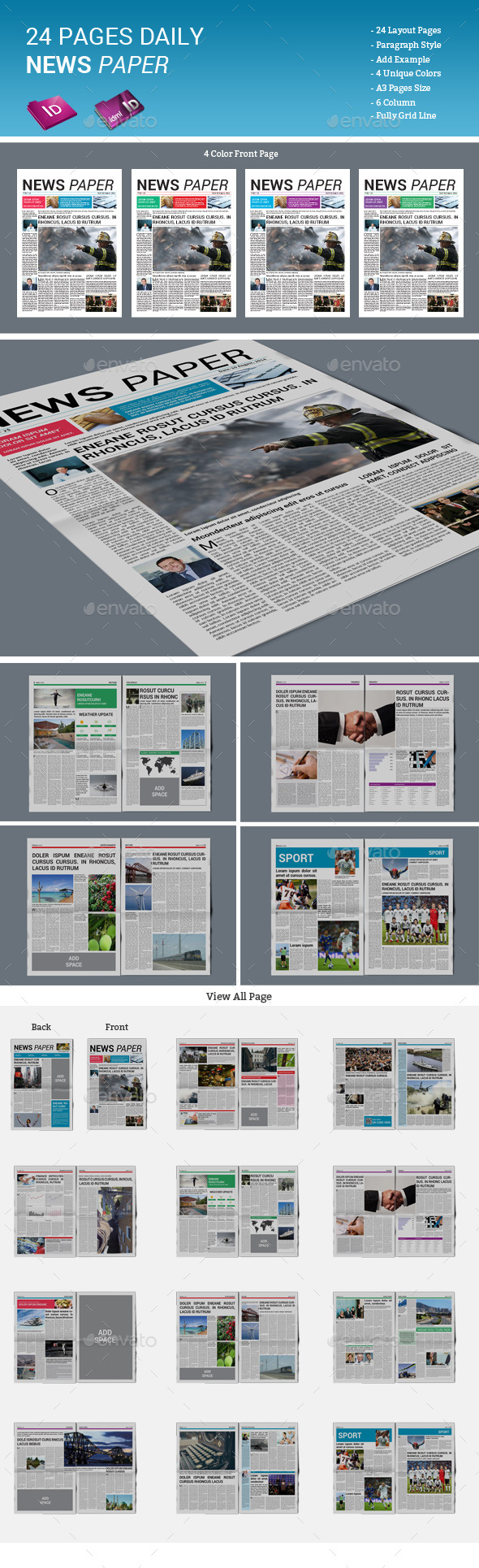 GraphicRiver 24 Pages Daily Newspaper 11879273