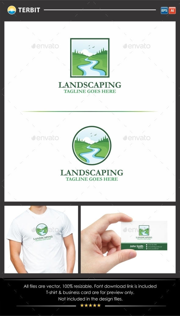 GraphicRiver Landscaping Gardening Logo 11879414