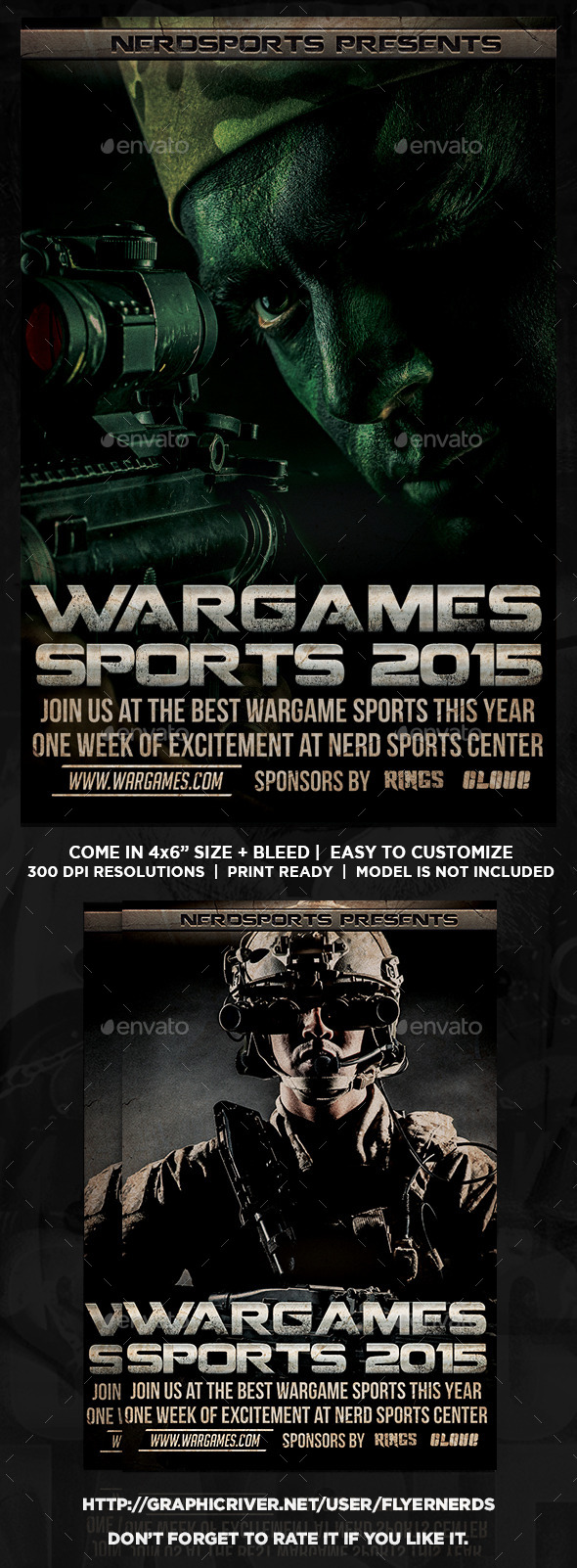 GraphicRiver Wargame 2015 Sports Flyer 11879433