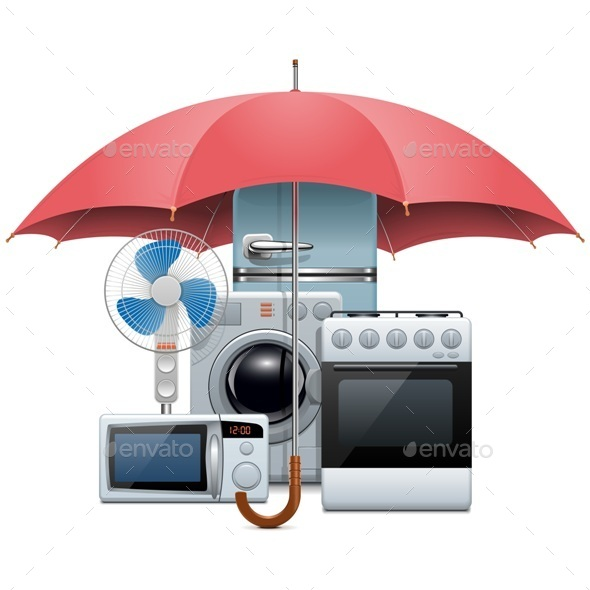 GraphicRiver Vector Household Appliances Protection 11879994