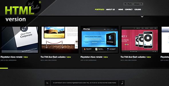 WebStudio HTML - Minimalist Portfolio Theme