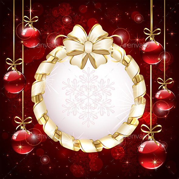 GraphicRiver Christmas Card with Baubles 11880425