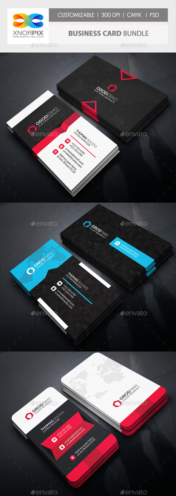 GraphicRiver Business Card Bundle 3 in 1-Vol 56 11880434