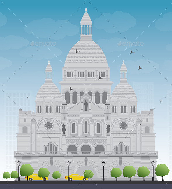 GraphicRiver Basilica of The Sacred Heart Paris France 11880438