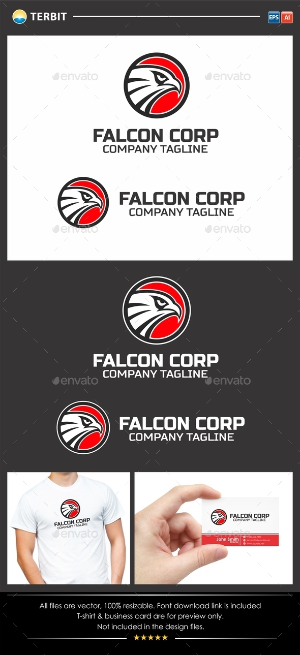 GraphicRiver Falcon Eagle Logo 11880524