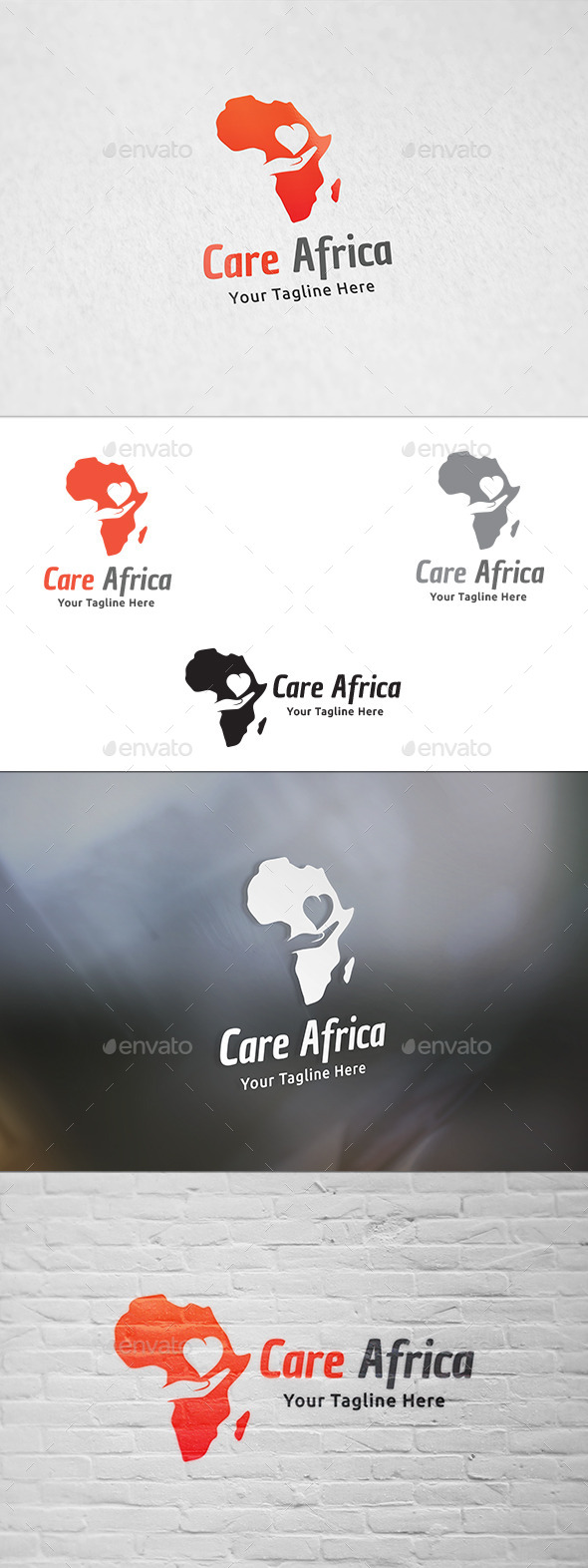 GraphicRiver Care Africa Logo Template 11881089