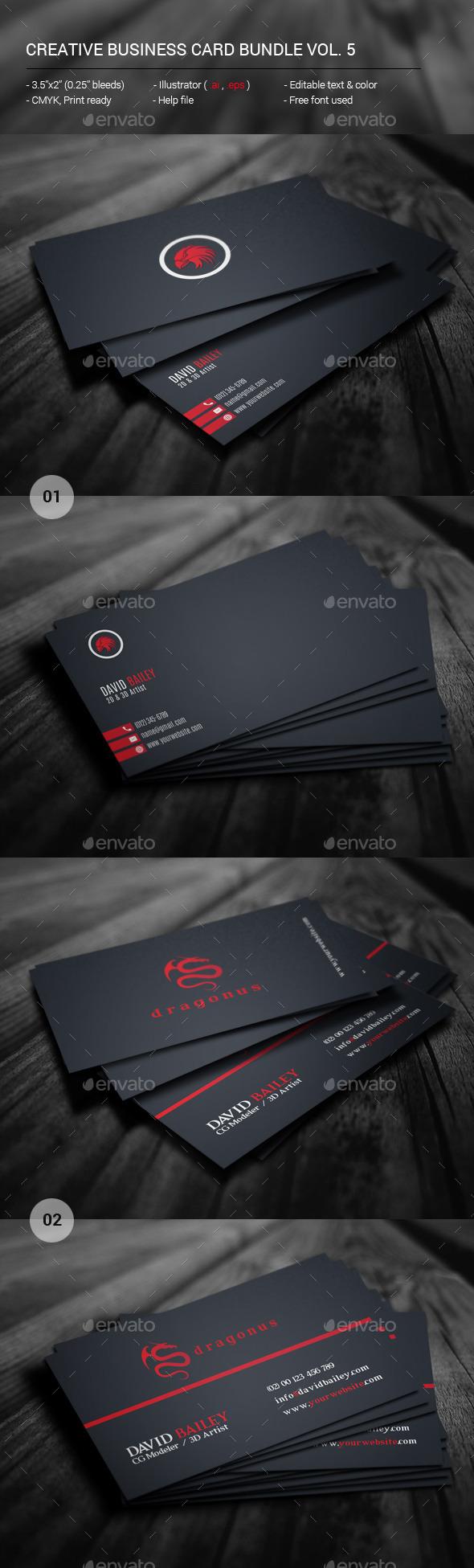 GraphicRiver Creative Business Card Bundle Vol 5 11881168