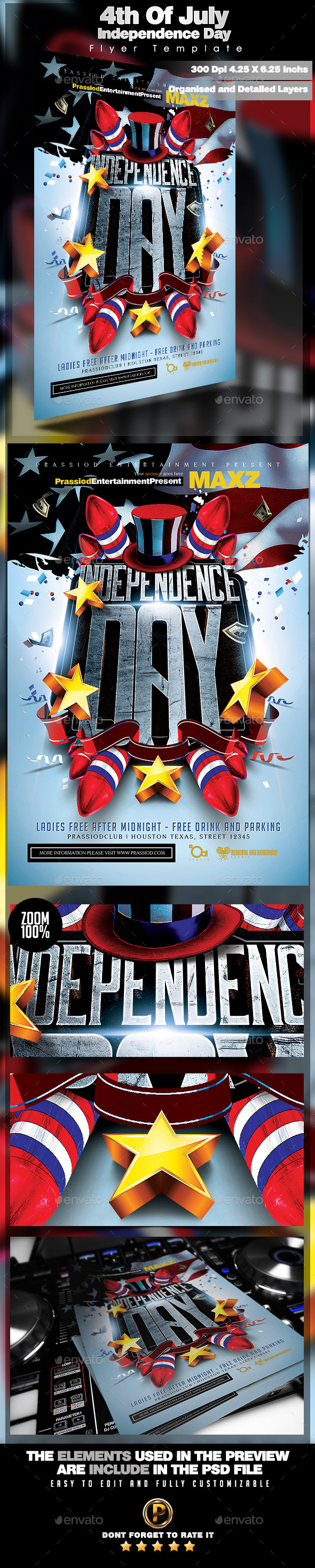 GraphicRiver 4th Of July Independence Day Flyer Template 11881342