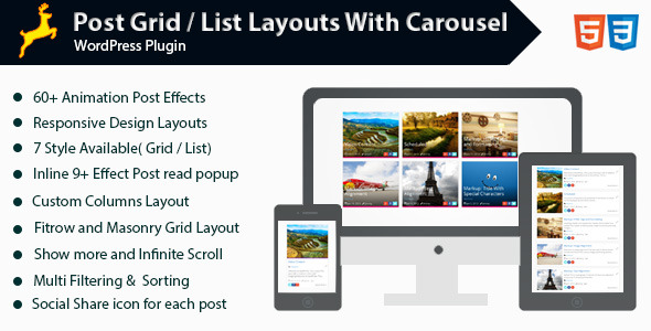WordPress Post Grid/List Layout With Carousel (Galleries) Download