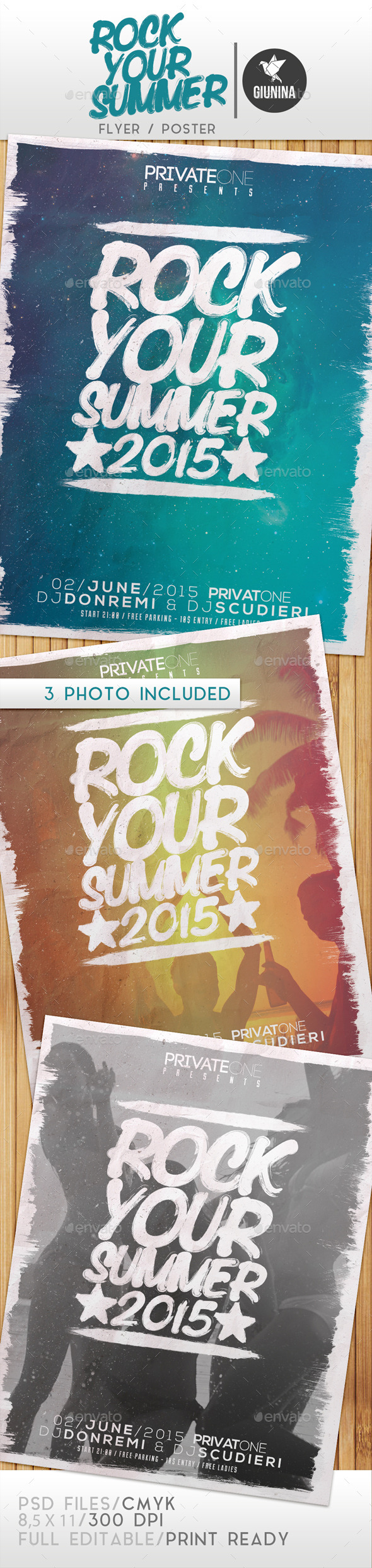 GraphicRiver Rock Your Summer Flyer Poster 11881408
