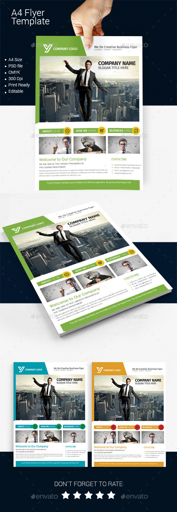 GraphicRiver A4 Business Flyer Template 07 11881689
