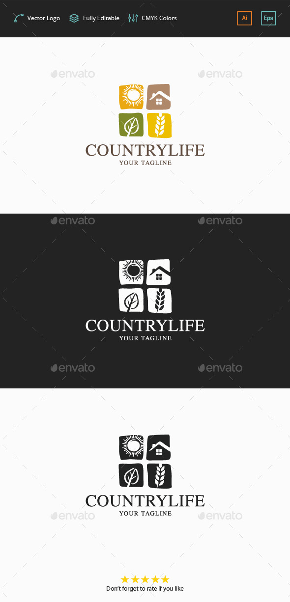 GraphicRiver Country Life Logo 11881707