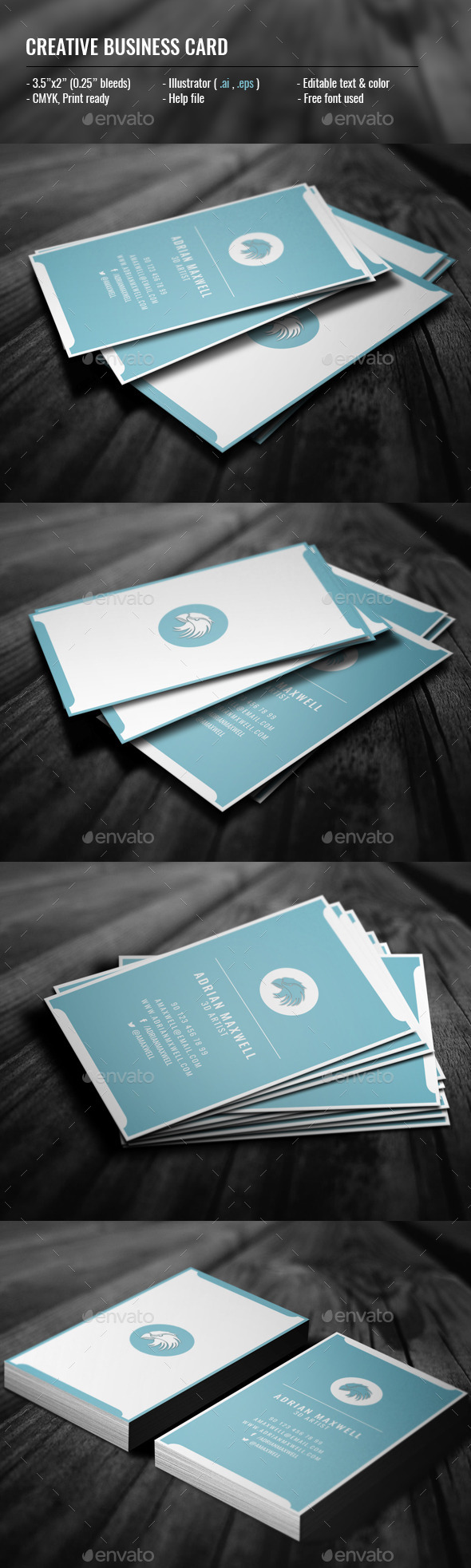 GraphicRiver Creative Vertical Business Card 11881749