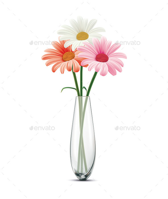 GraphicRiver Daisy in a Glass Vase 11881887