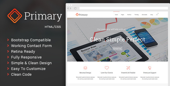 ThemeForest Primary Business HTML CSS Template 11810558