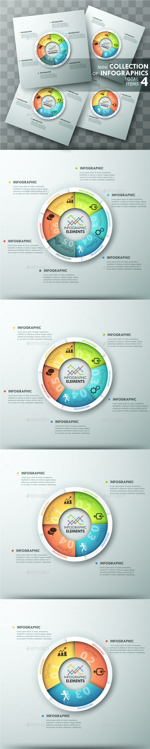 GraphicRiver Modern Infographic Spiral Charts 4 Items 11882014