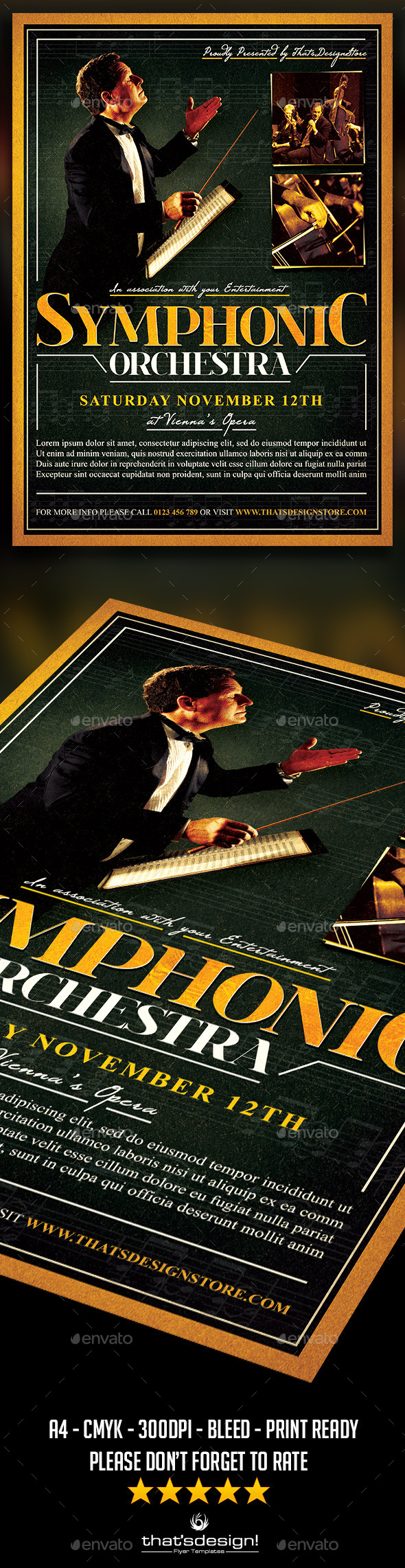 GraphicRiver Symphonic Orchestra Flyer Template V2 11882118