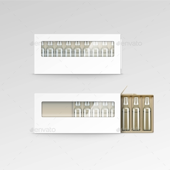 GraphicRiver Blank Packaging Box for Ampoules 11883041