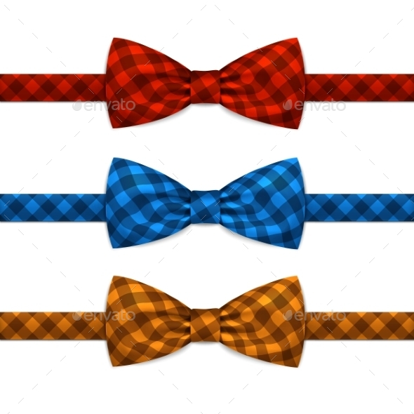 GraphicRiver Bowtie Set Isolated on White 11883082