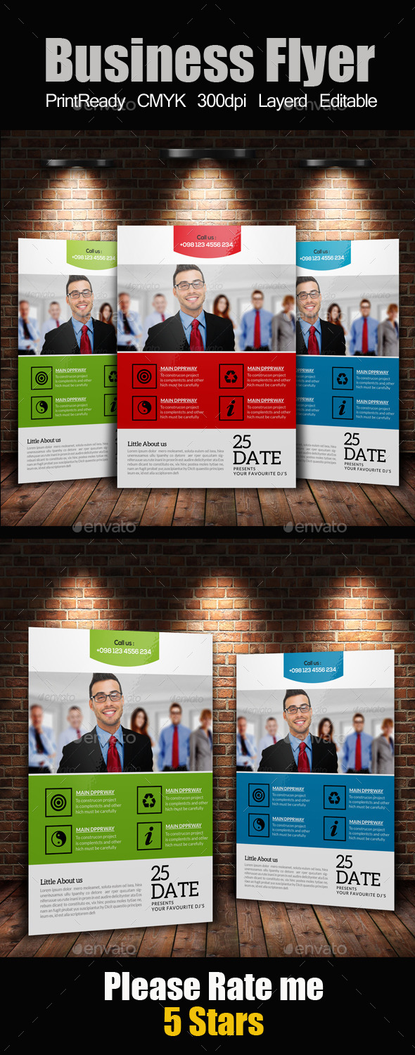 GraphicRiver A4 Business Flyer Template 11883111