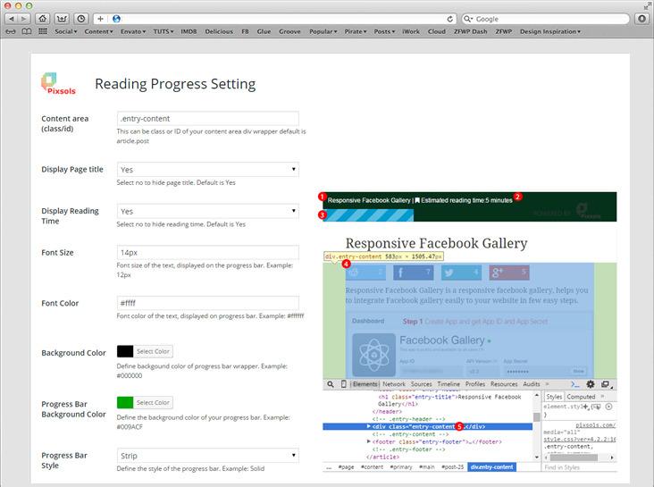 Reading Progress Bar