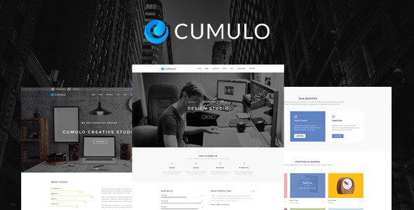 ThemeForest Cumulo Multi-Purpose PSD Template 11781621