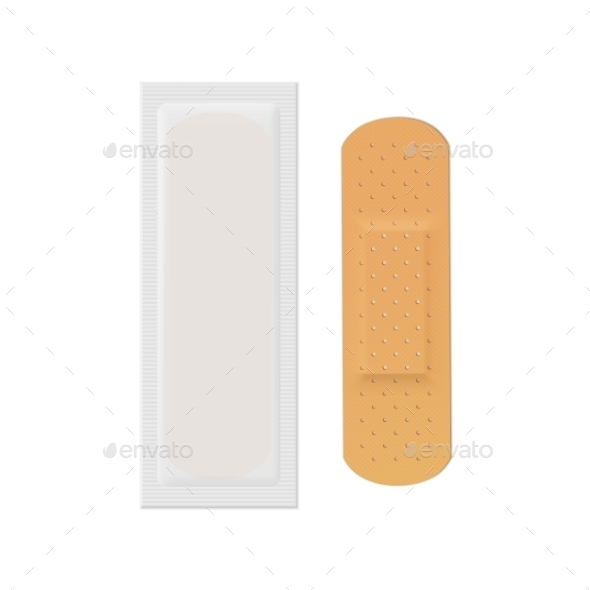 GraphicRiver Bandage Plaster Aid Band Medical Adhesive 11883325