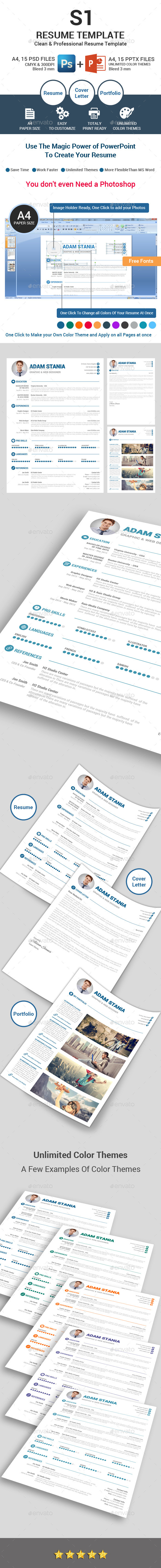 GraphicRiver S1 Clean Resume Template 11877697
