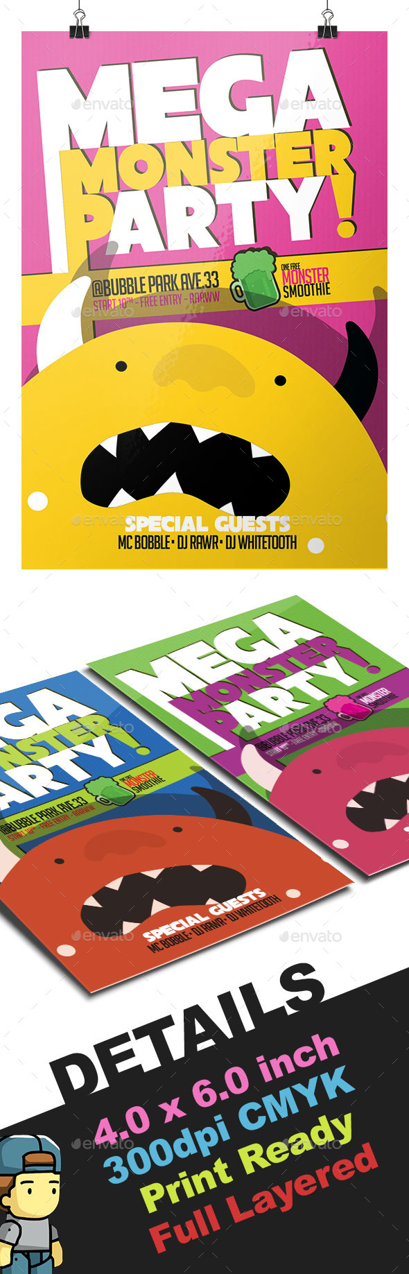 GraphicRiver Mega Monster Party Flyer Template 11883357
