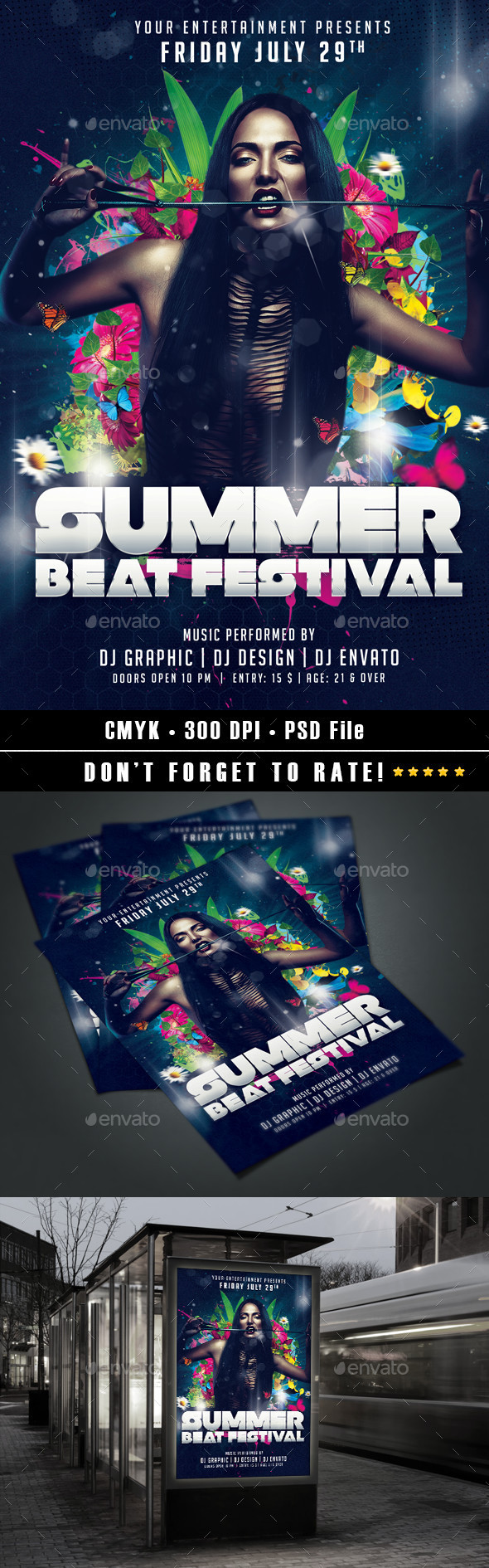GraphicRiver Summer Beat Festival 11883561