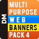 Multi Purpose Banners Pack 4 - GraphicRiver Item for Sale