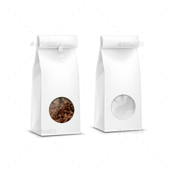 GraphicRiver Vector Coffee Packaging Package Bag Isolated 11883719
