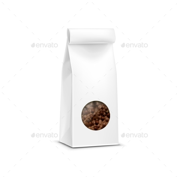GraphicRiver Vector Coffee Packaging Package Bag Isolated 11883722