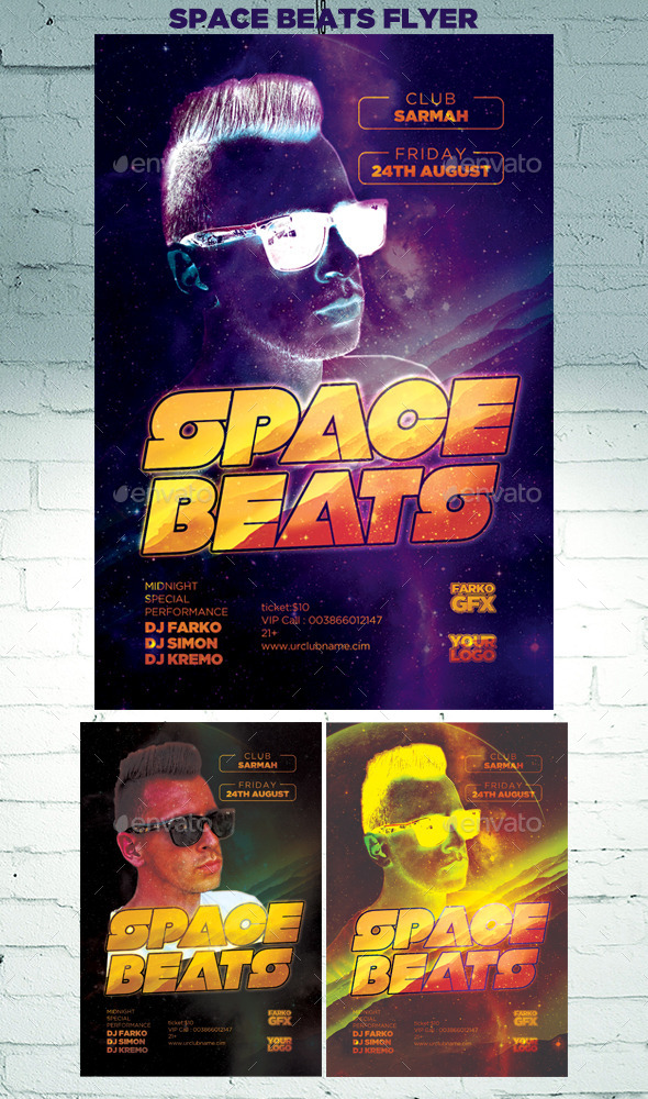 GraphicRiver Space Beats Flyer 11883732