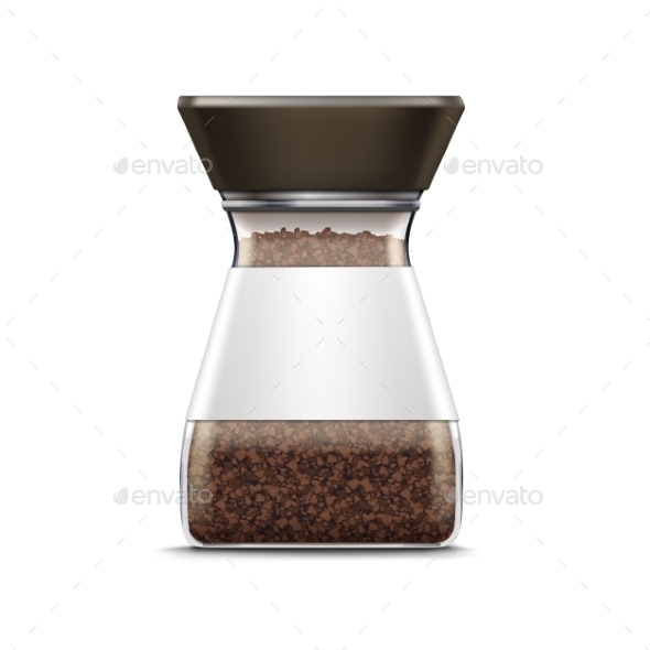 GraphicRiver Vector Coffee Glass Jar Packaging Package Isolated 11883761