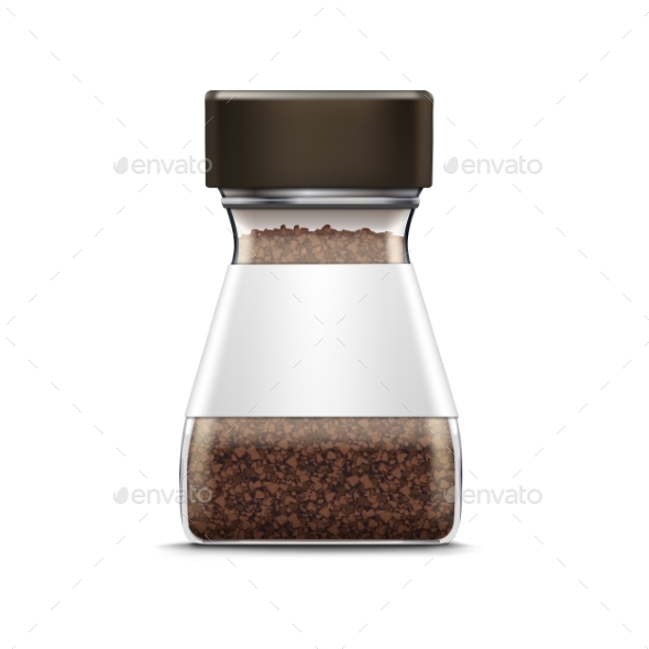 GraphicRiver Vector Coffee Glass Jar Packaging Package Isolated 11883836