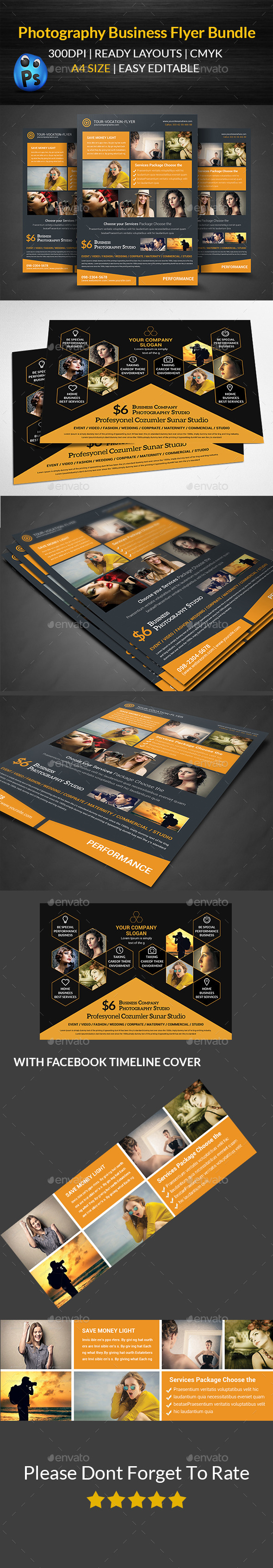 GraphicRiver Photography Flyer Bundle 11883865