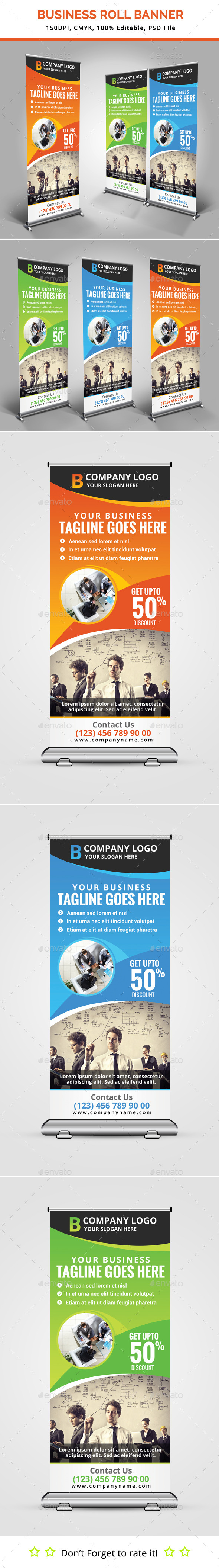 GraphicRiver Business Roll Up Banner V12 11884032