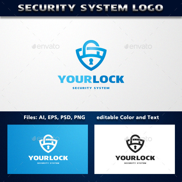 GraphicRiver Security System Logo Template 11884431