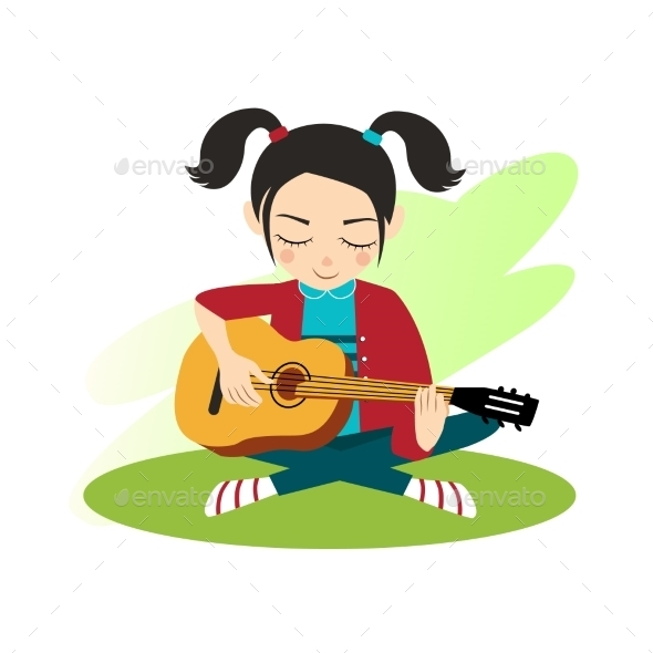 GraphicRiver Girl Plays Guitar 11884446